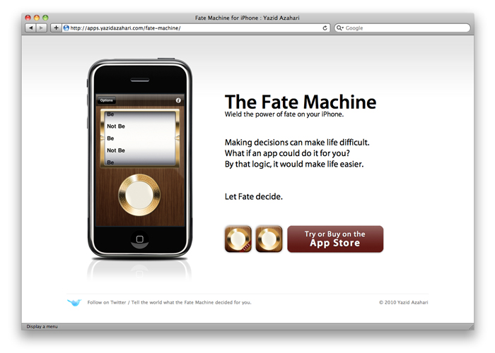Fate Machine app